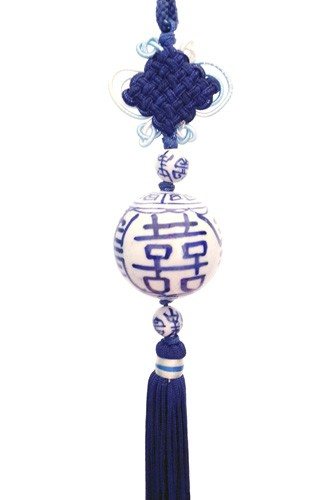 Double Happiness Tassel for Loving Marriage