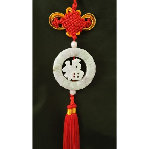 Feng Shui Jade Tassel for Good Fortune