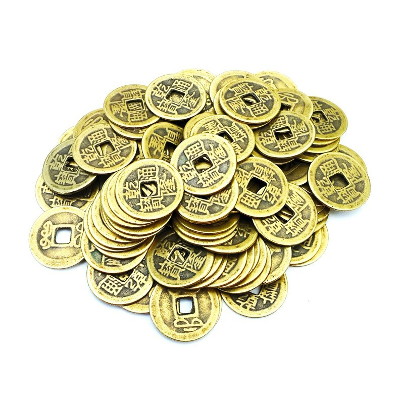 Feng Shui Lucky Coins to Attract Money and Wealth - 100 pieces per pack