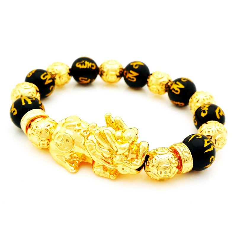 Feng Shui Gold Plated Pi Yao Lucky Amulet Bracelet