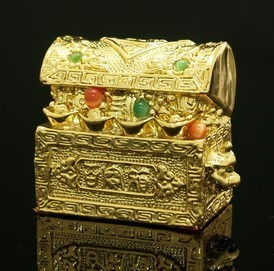 Golden Auspicious Treasure Chest