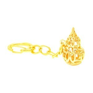 Golden Wu Lou with coins Keychain