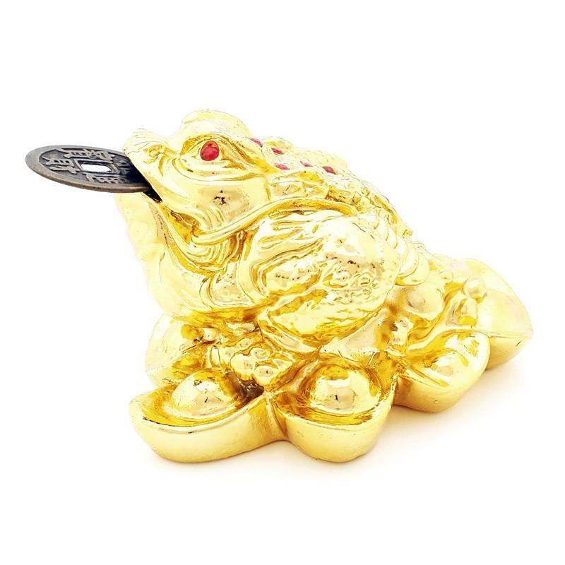 Three Legged Toad on Bed of Ingots - Golden