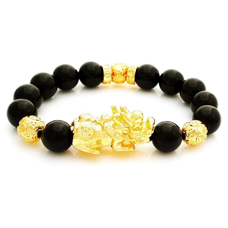 Feng Shui Golden Pi Yao Pi Xiu Lucky and Protective Bracelet