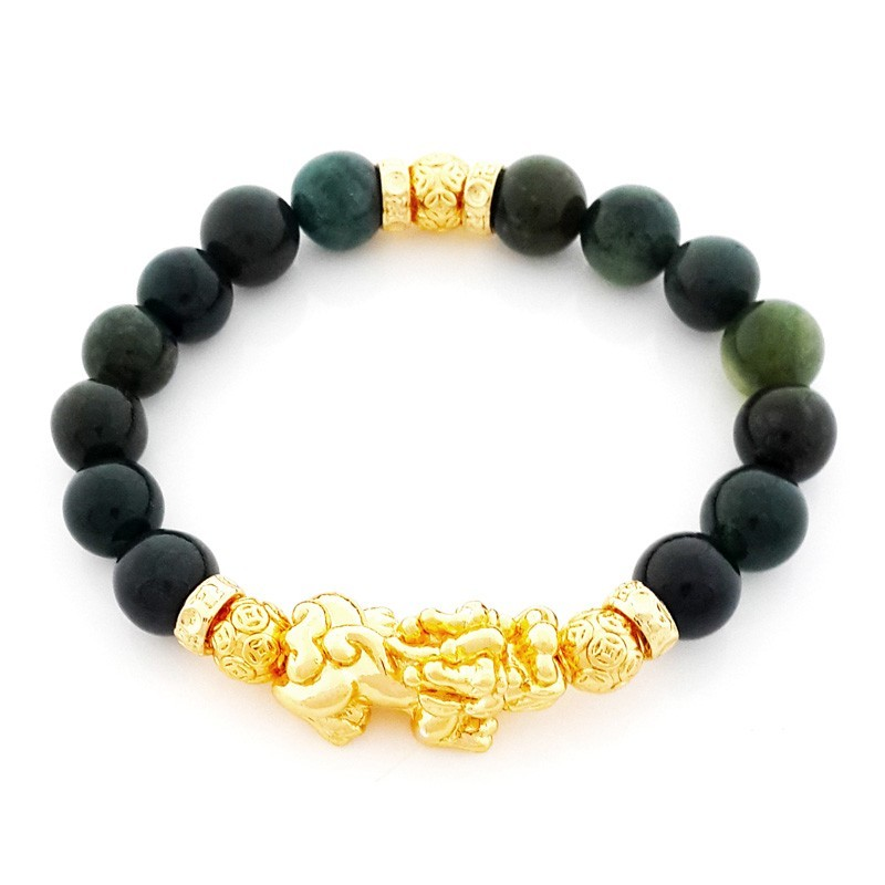 Golden Pi Yao Pi Xiu Lucky and Protective Amulet Bracelet