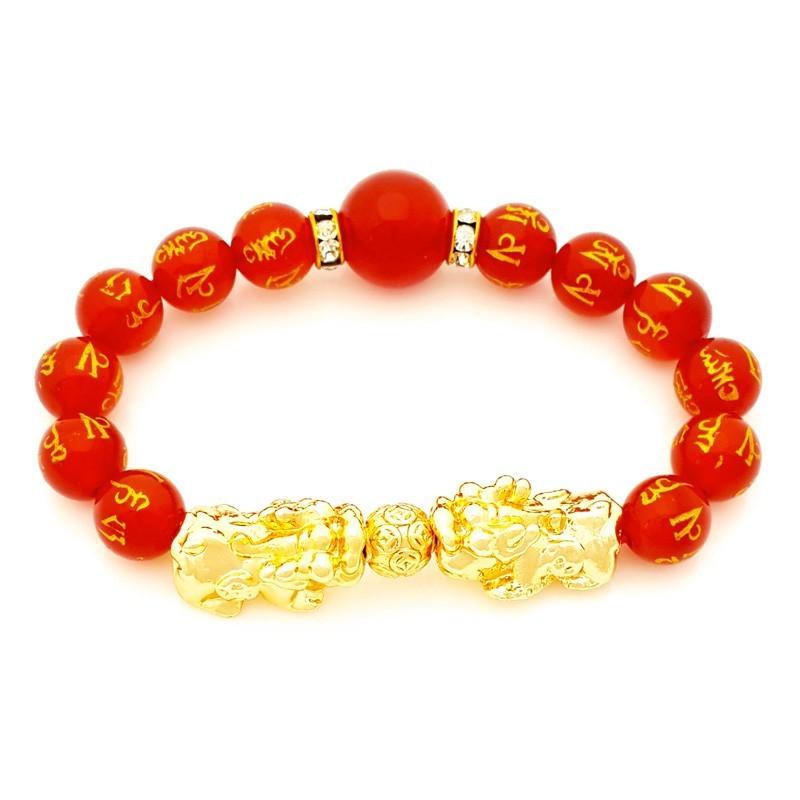 Feng Shui Golden Double  Pi Yao Lucky Amulet Bracelet