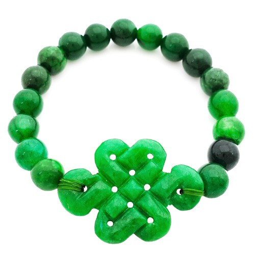 Green Jade Mystic Knot Bracelet for LOVE and PROTECTION