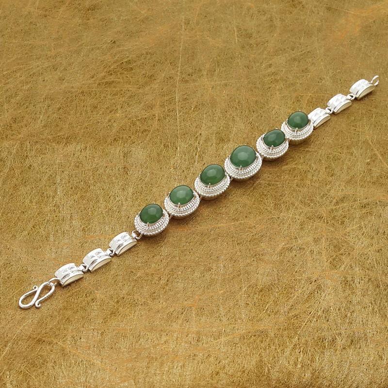 100% Natural Green Jade Jadeite Lucky Charm Bracelet