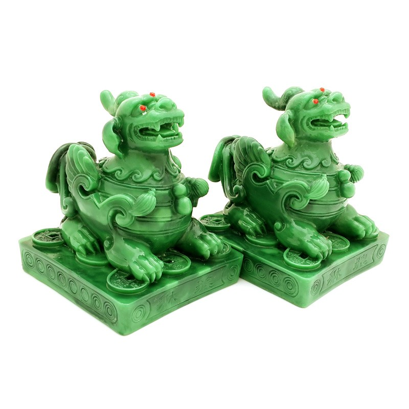 A Pair Jade Pi Yao for Wealth and Protection