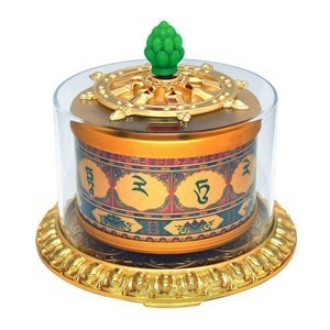 Green Tara Prayer Wheel