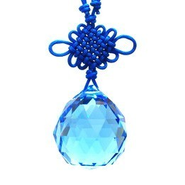 40mm SWAROVSKI Facetted Hanging Crystal Ball - Blue