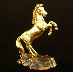 24K Gold Plated Horse Figurine