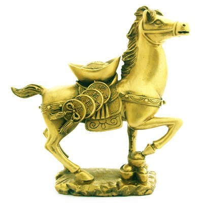 Auspicious Horse with Coins and Ingots for Business