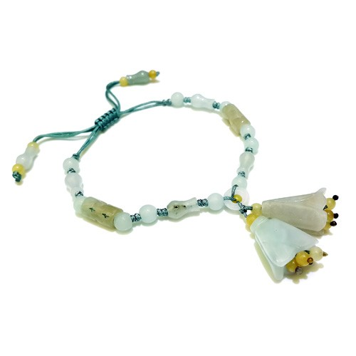 The Magnolia Flowers Charm Bracelet - Light Blue