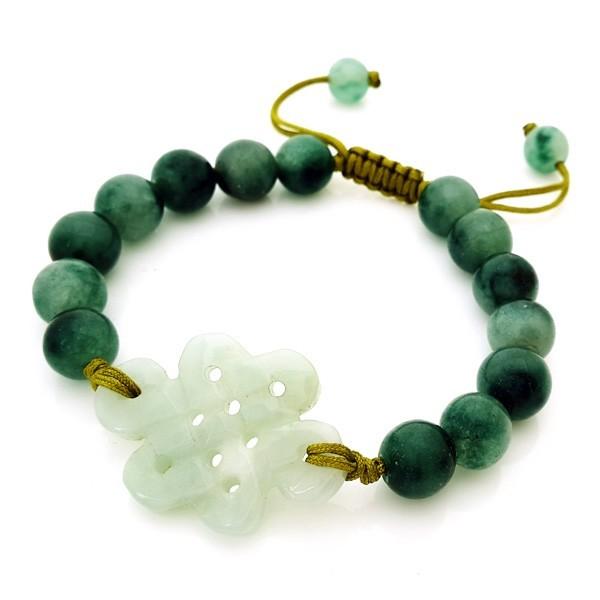 Jade Mystic Knot Bracelet for Love
