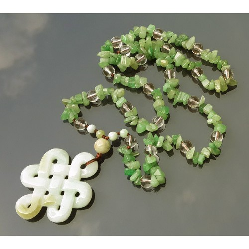 Jade Mystic Knot Necklace - Large