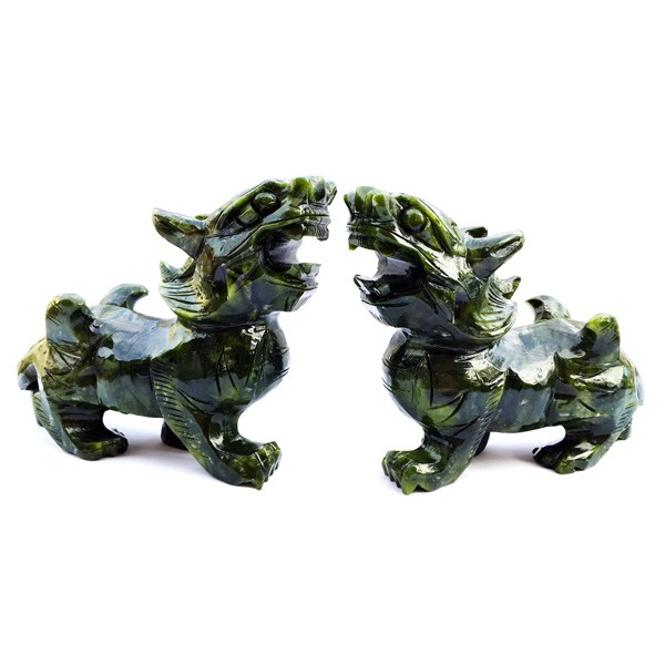 A Pair Of Pi Yao Carving For Protection and Good Fortune