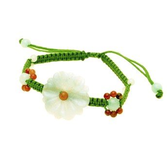 The Sunflower Jade Bracelet - Small