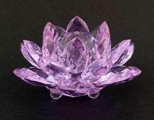 Large Crystal Lotus - Purple
