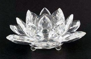 Large Crystal Lotus - Clear
