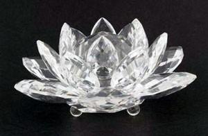 Large Crystal Lotus - Clear