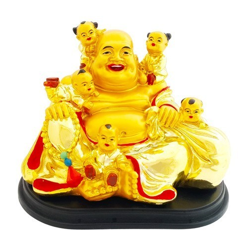 The Golden Laughing Buddha With Children