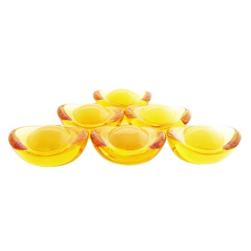 Liuli Golden Ingot - 6 pieces