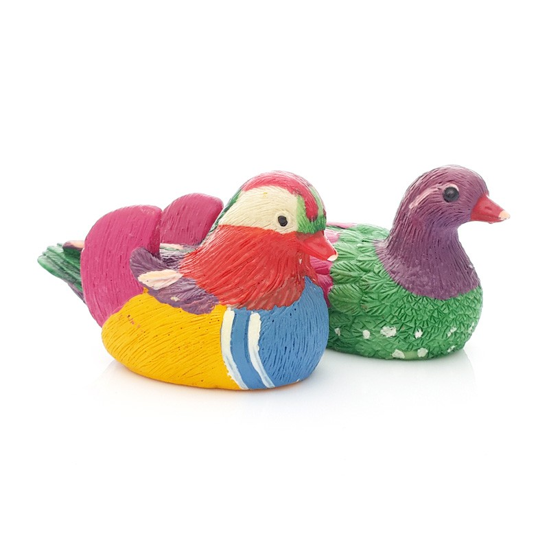 A Pair of Mini Mandarin Ducks for Love