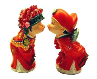 A Happy Kissing Couple - Small