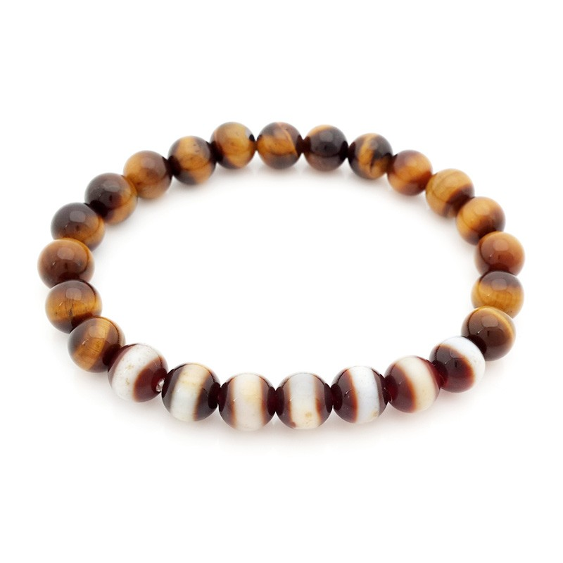 The 7 pieces of Medicine Buddha Dzi Beads Bracelet