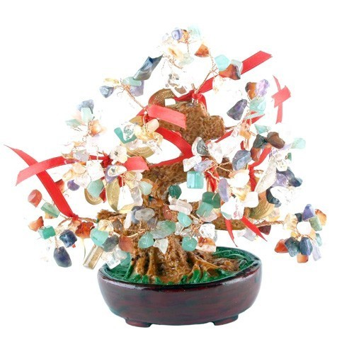 Multi Gem Tree with Gold Coins for Greater Chi