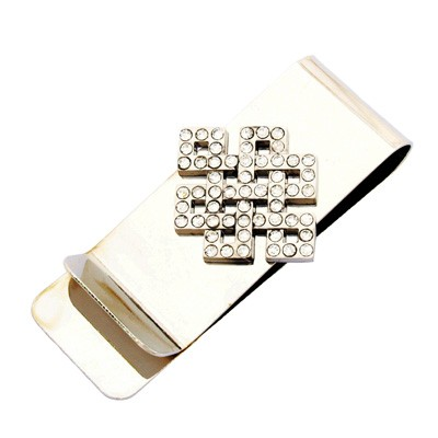 Bejeweled Mystic Knot Money Clip for Love Luck