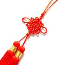 Mystic Lucky Knot Tassel - Red
