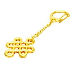 Gold Plated Mystic Knot Key Chain