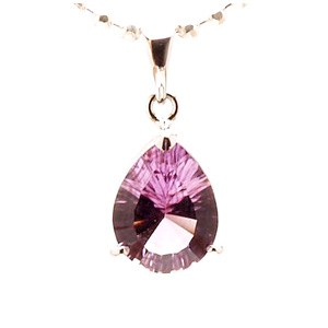 Natural Amethyst Pendant with 925 Silver