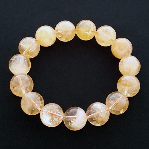 14mm Natural Citrine Bracelet for Super Wealth
