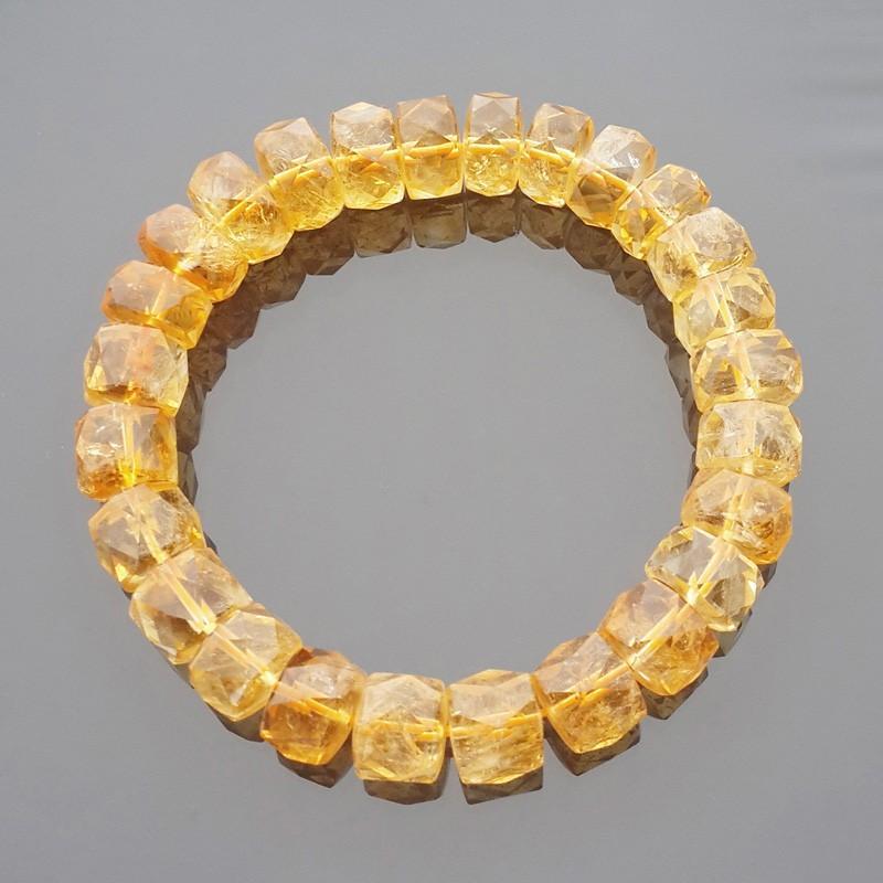Natural Faceted Citrine Bracelet for Super Wealth