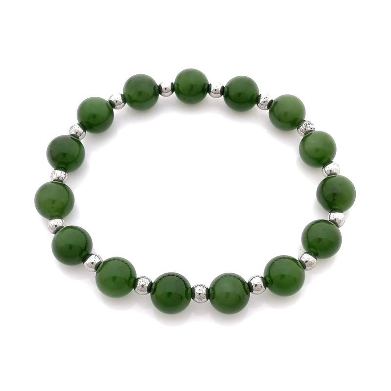 100% Natural Hetian Green Jade Nephrite Bracelet