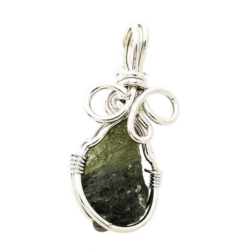 Natural Moldavite Gem Stone Pendant