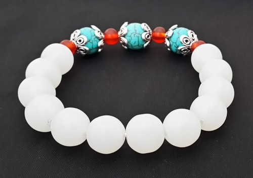 Authentic WHITE Jade Bracelet