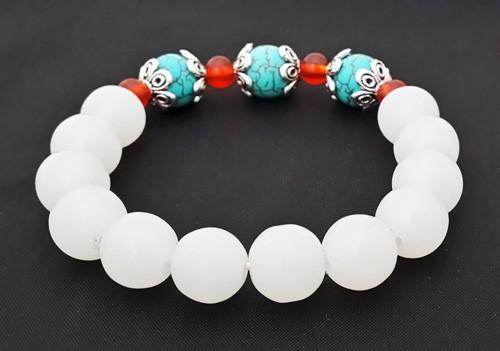 Authentic WHITE Jade Bracelet