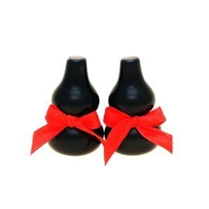 Natural Mini Black Obsidian Wu Lou - 2pcs