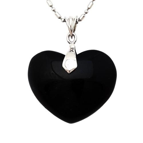 Obsidian Heart Shape Pendant
