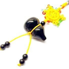 Black Obsidian Wu Lou Tassel