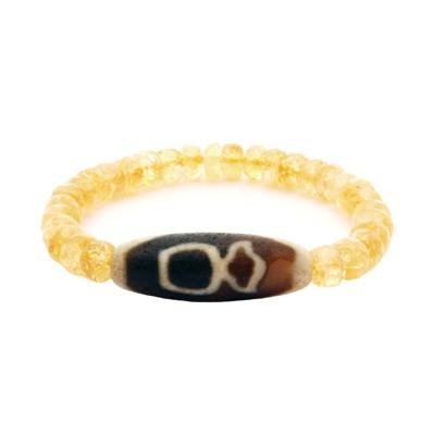 Old Agate Kubera Dzi Bead Bracelet