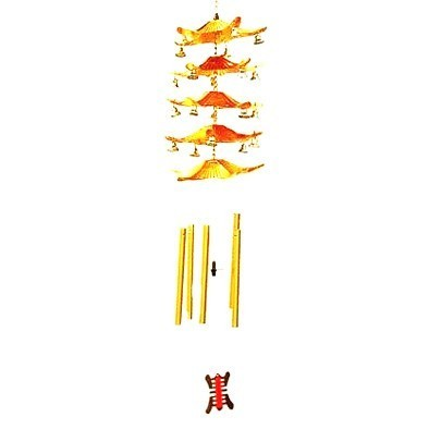 Traditional 5-Tier Pagoda Wind Chime - 5 Rods