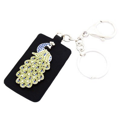 Bejeweled Peacock Key Ring