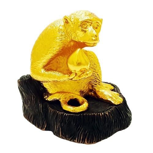 24K Gold Plated Monkey Figurine