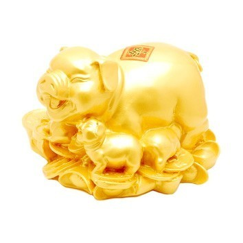 Pigs on Bed of Ingots and Coins