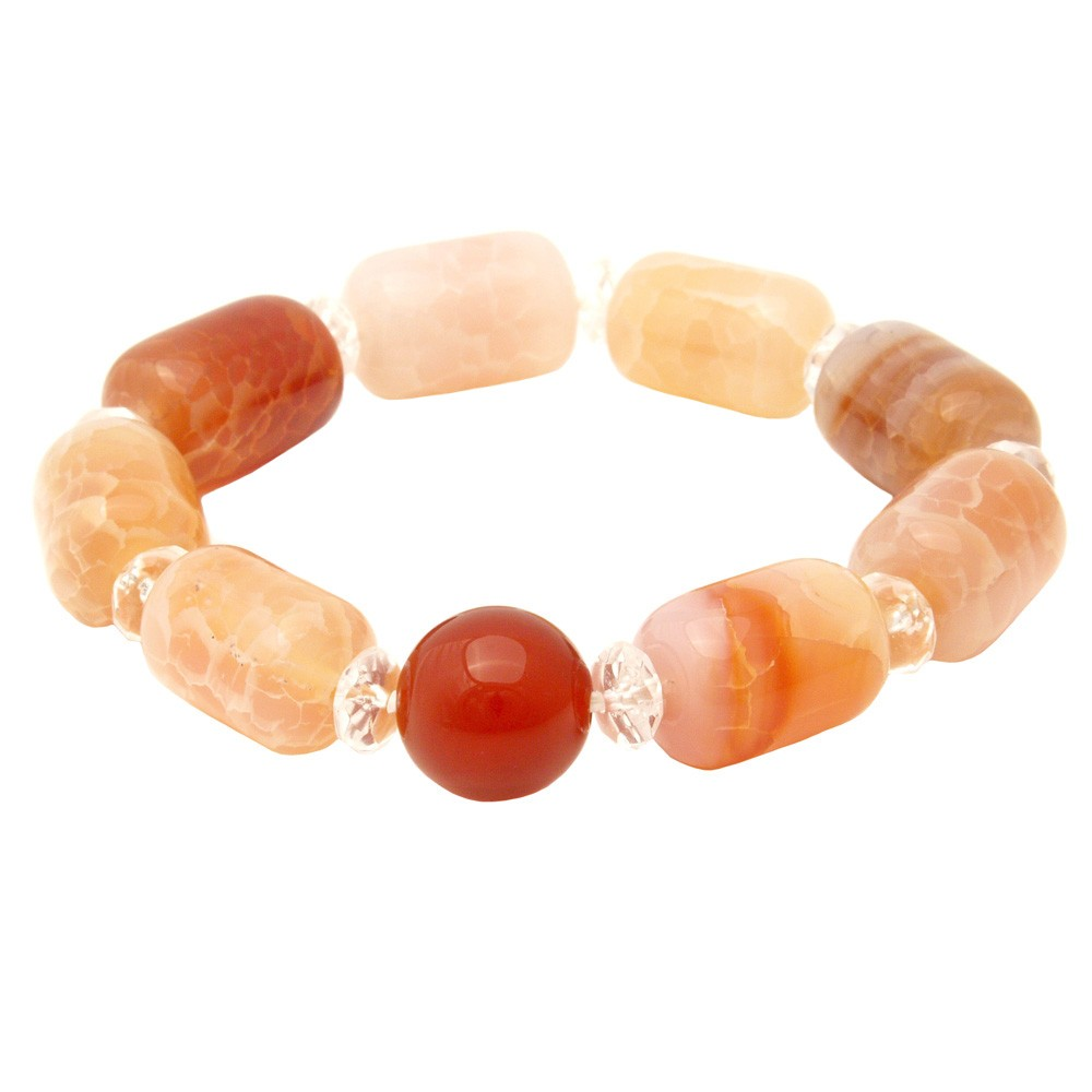 Fire Agate Bracelet for Health and Happiness